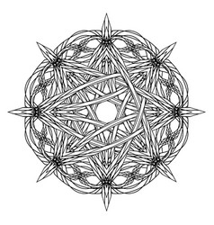 Abstract octagonal entwined tracery in ancient vector