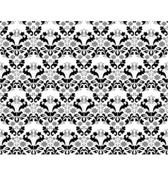 Abstract seamless black and grey ornament vector image
