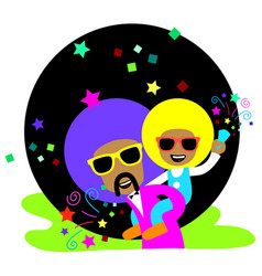 Afro ride back vector