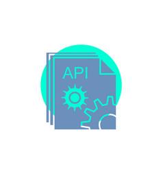 Api app coding developer software glyph icon vector