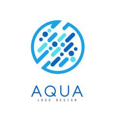 Aqua logo design brand identity template ecology vector