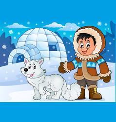 Arctic theme image 1 vector