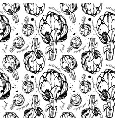 artichokes seamless pattern vector image