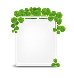 Banner With Green Clover vector