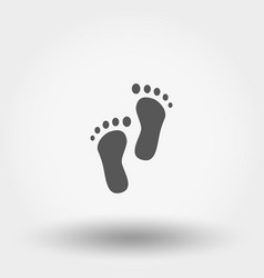 Bare feet baicon silhouette flat vector