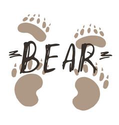 Bear paw print design vector
