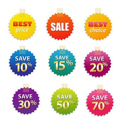 Big sale tags vector