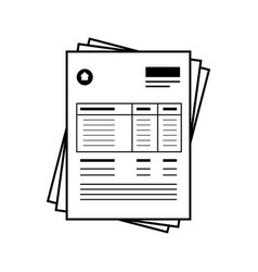 Bill document icon vector
