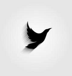 black bird flying icon symbol design vector image