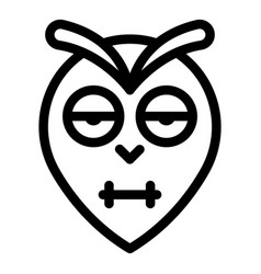 Blinking owl head icon outline style vector
