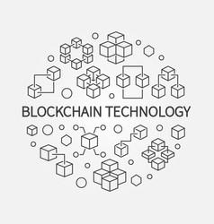 blockchain technology round in vector image
