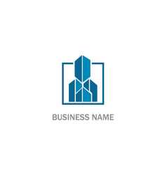 building modern city realty logo vector image