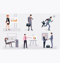 Business people at work businessmen taking part vector