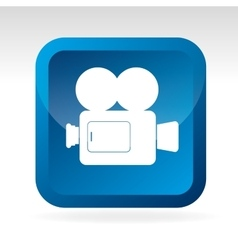Camcorder square icon vector