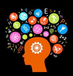 child head education vector image
