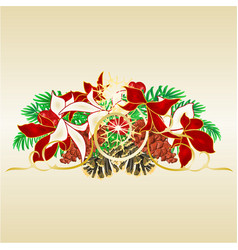 christmas and new year decorative spruce branches vector image