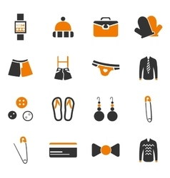 Clothes Icons set vector