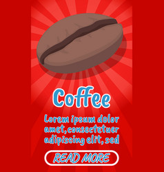 coffee concept banner comics isometric style vector image