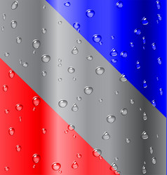 cold water droplet elements on metal vector image