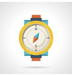 Colored compass flat icon vector image