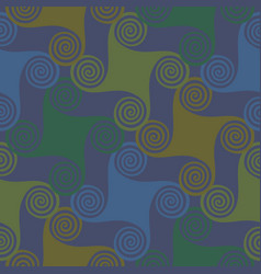 Colorful seamless pattern with spirals vector