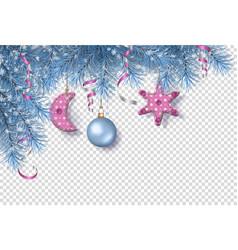 corner border christmas tree vector image