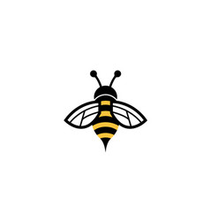 creative geometric bee logo vector image