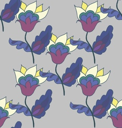 Dark floral seamless pattern vector