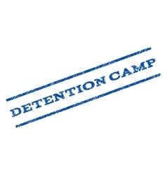 Detention camp watermark stamp vector