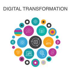 Digital transformation infographic circle concept vector