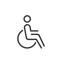 disability icon from collection vector image