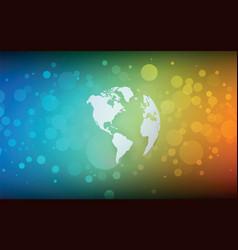 Earth globe america abstract bokeh color vector