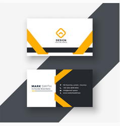 Elegant yellow business card template vector