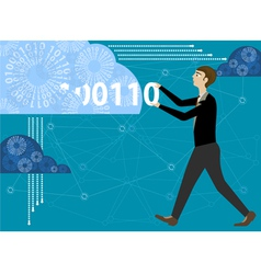 Enter to cloud computing vector image
