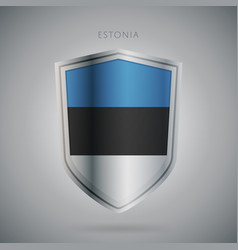 Europe flags series estonia icon vector