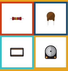 Flat icon appliance set of hdd mainframe vector