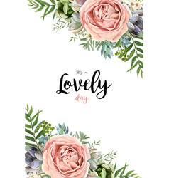 floral seamless pattern bouquet design garden vector image