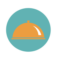 food cover flat icon vector image