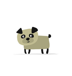 funny pug dog sketch for your design vector image vector image
