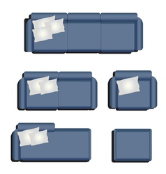 Furniture top view set 32 vector image