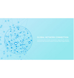 global communication network concept vector image