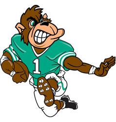 Gorilla sports football logo mascot vector