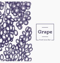 grape design template hand drawn grape berry vector image