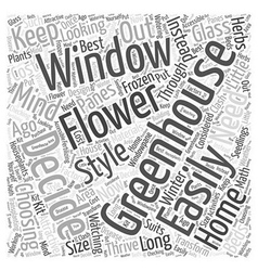 Greenhouse window Word Cloud Concept vector