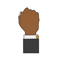 Hand person cartoon vector