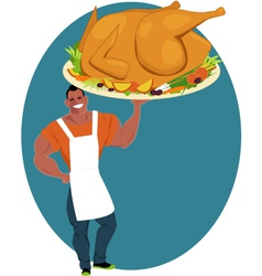 Holiday turkey vector image
