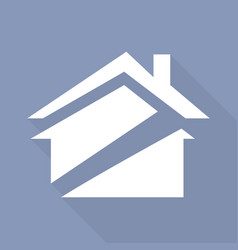icon house with a long shadow vector image vector image