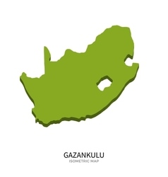 Isometric map of Gazankulu detailed vector image