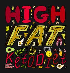 Keto diet lettering vector
