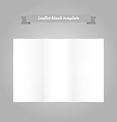 Leaflet blank template vector image